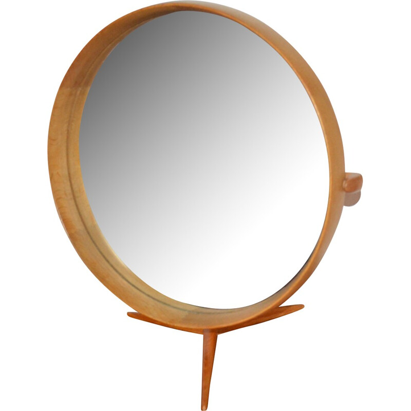 Wooden framed table mirror by Uno & Osten Kristiansson for Luxus - 1960s