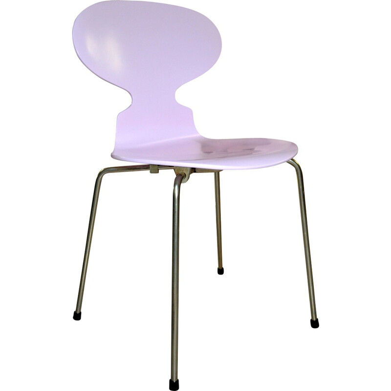 Set of 6 pink Ant chairs by Arne Jacobsen for Fritz Hansen - 1970s