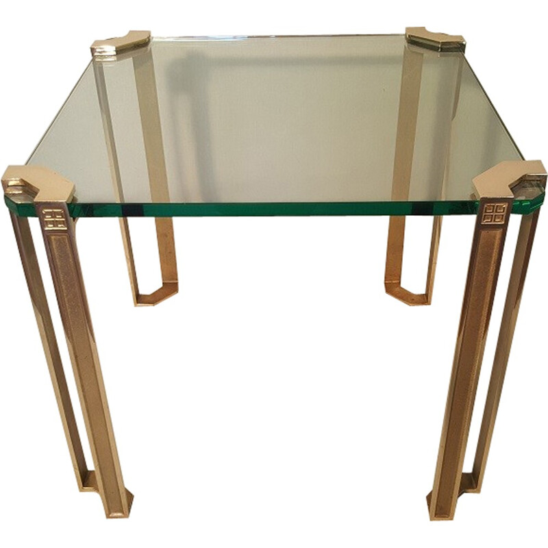 Brass coffee table by Peter Ghyczy - 1970s