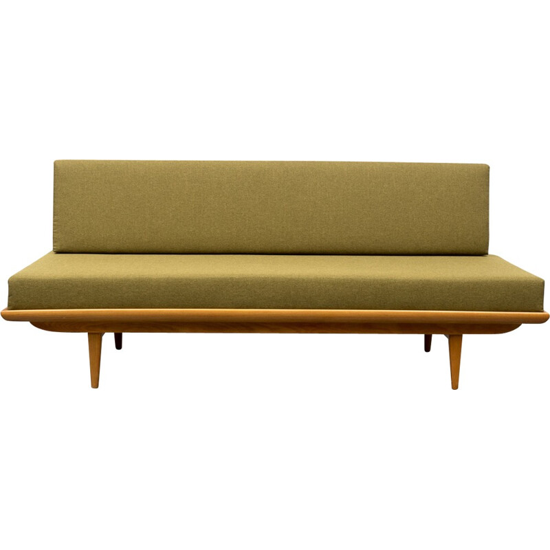 Green anise bench ashwood new upholstery - 1960s