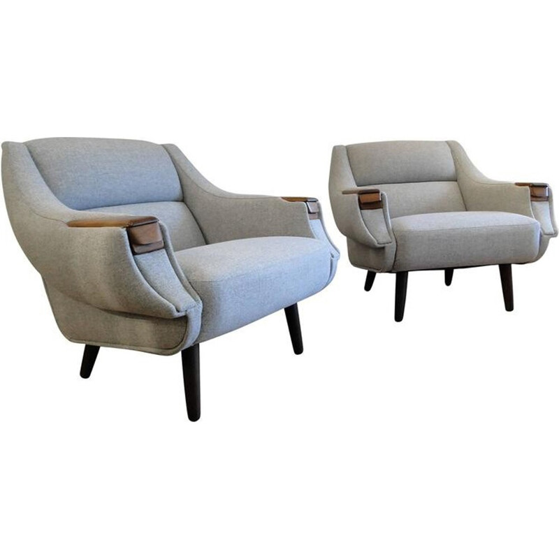 Pair of rosewood sofas by H. W. Klein - 1960s