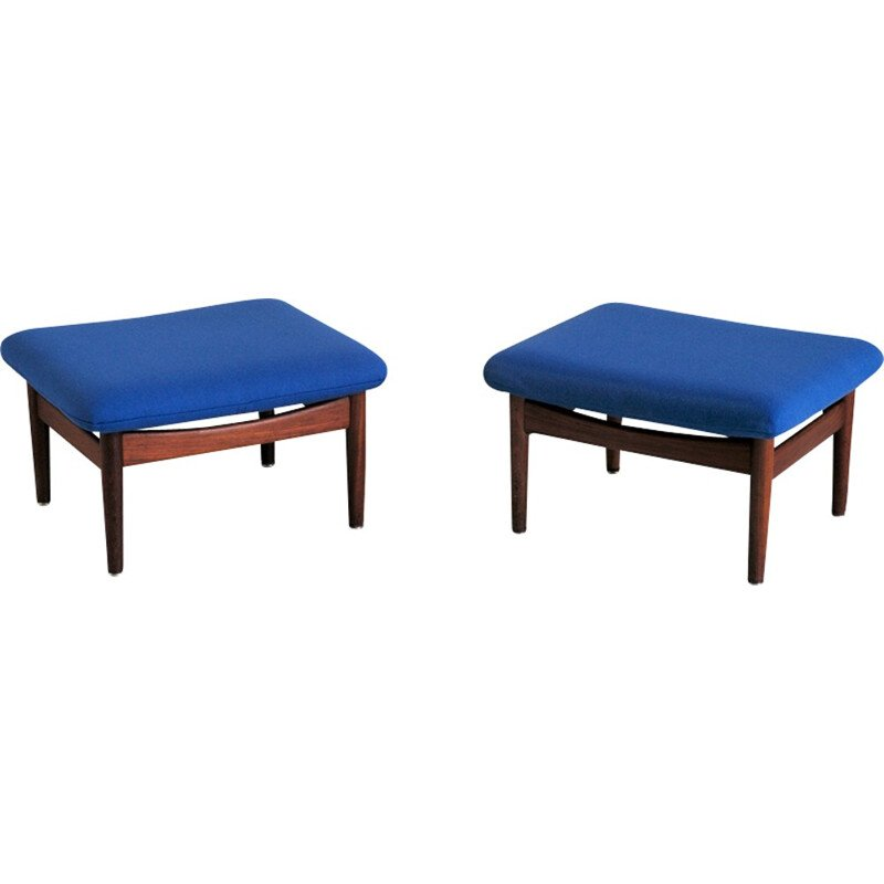 Pair of FD 137 stools, Japan Series by Finn Juhl - 1950s