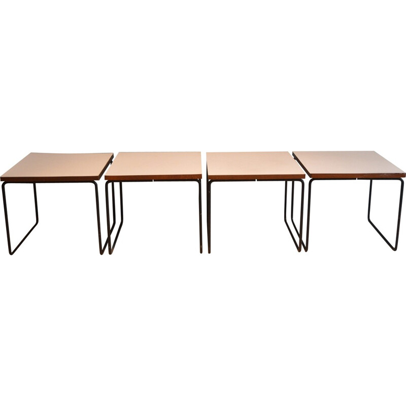 Pair of Volante tables by Pierre Guariche for Steiner - 1950s