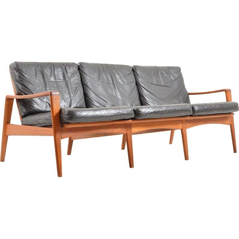 Mid century Danish teak 3-seater sofa by Arne Wahl Iversen for Komfort - 1960s