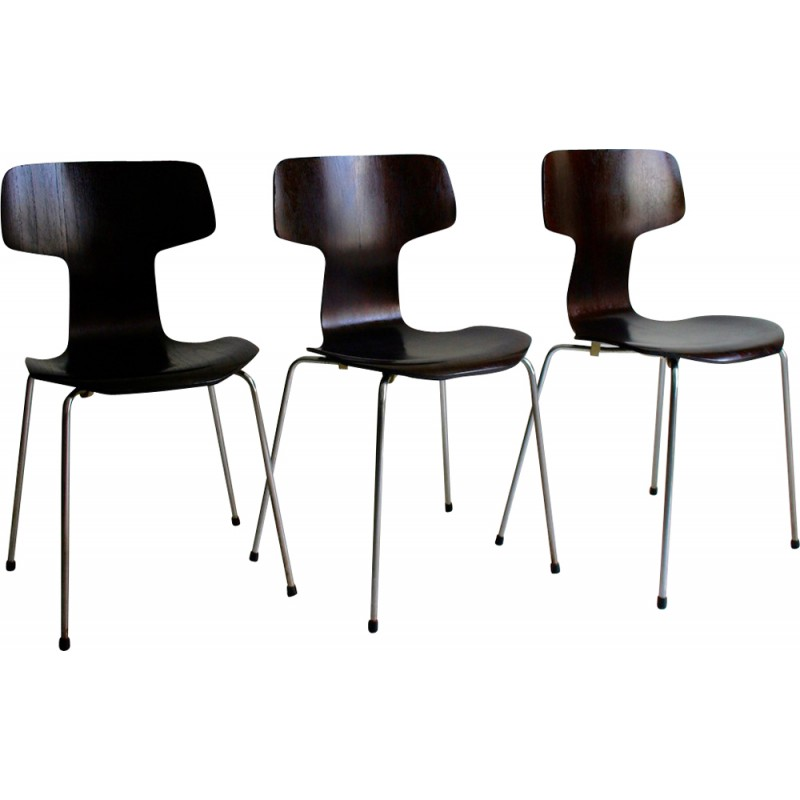 Set Of 3 3103 Chairs By Arne Jacobsen For Fritz Hansen 1950s