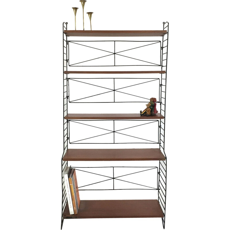 Self-supporting modular shelving system proced in Italy - 1960s