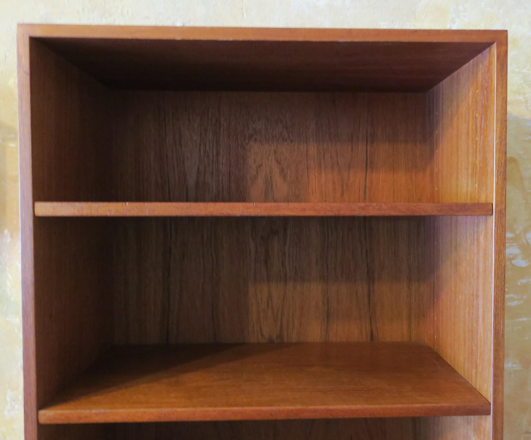 Vintage Bramin Danish Teak Bookshelf With Steel Feet