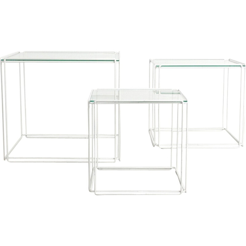 Set of 3 nesting tables by Max Sauze - 1970s