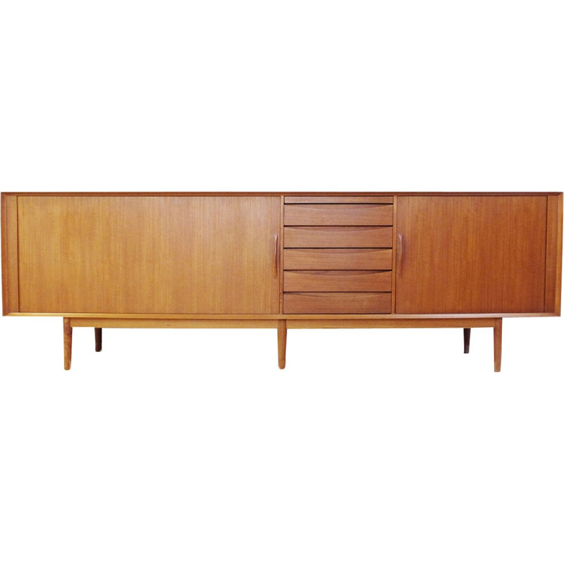 Teak sideboard by Arne Vodder with several compartments - 1960s