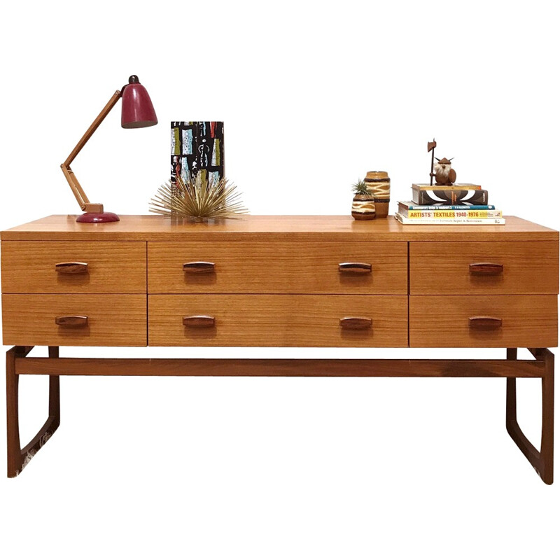 Mid Century G Plan Quadrille Sideboard by Roger Bennet - 1960s