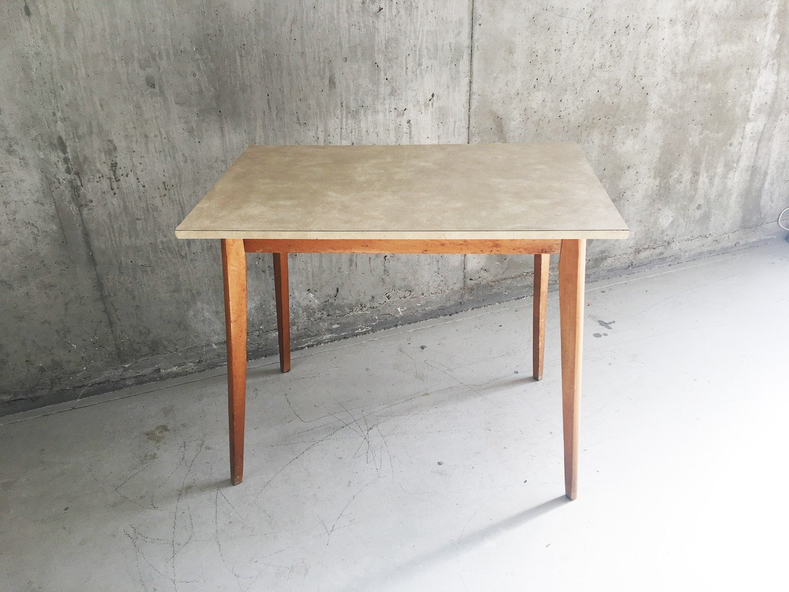 mid century formica and teak kitchen table 1960s design market