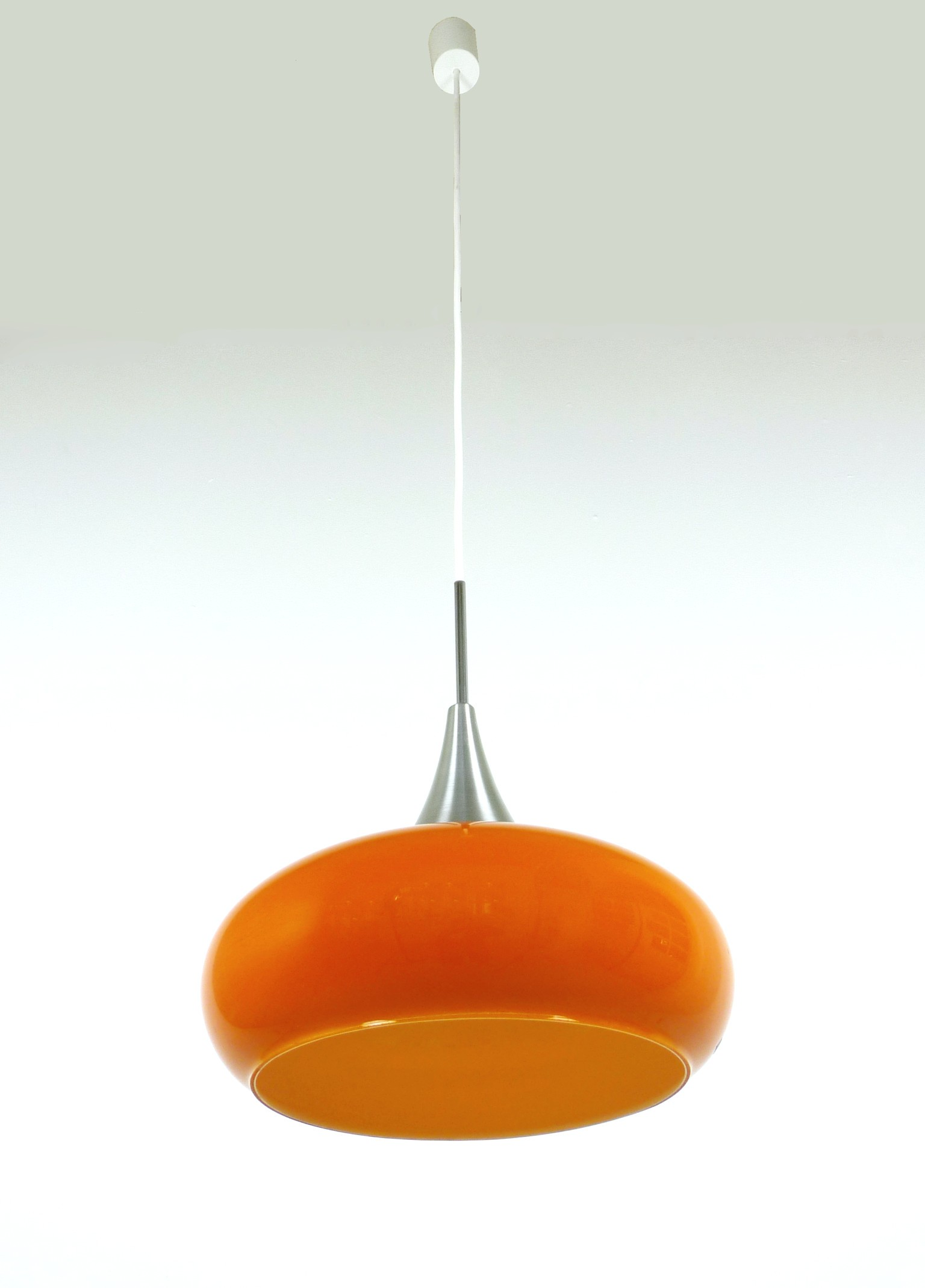 Orange glass pendant light from doria germany 1960s design market orange glass pendant light from doria germany 1960s previous next aloadofball Image collections