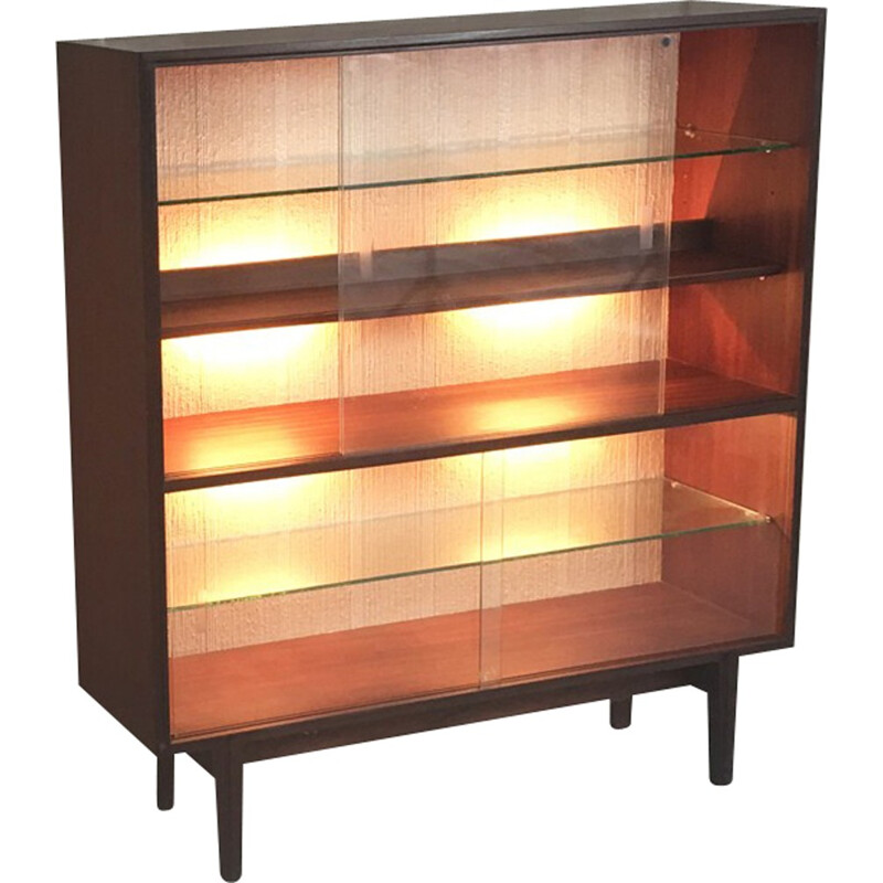 Mid century Beaver and Tapley illuminated display cabinet by Robert Heritage - 1970s