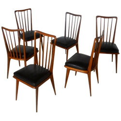 Suite of 6 chairs, Charles RAMOS - 1960s