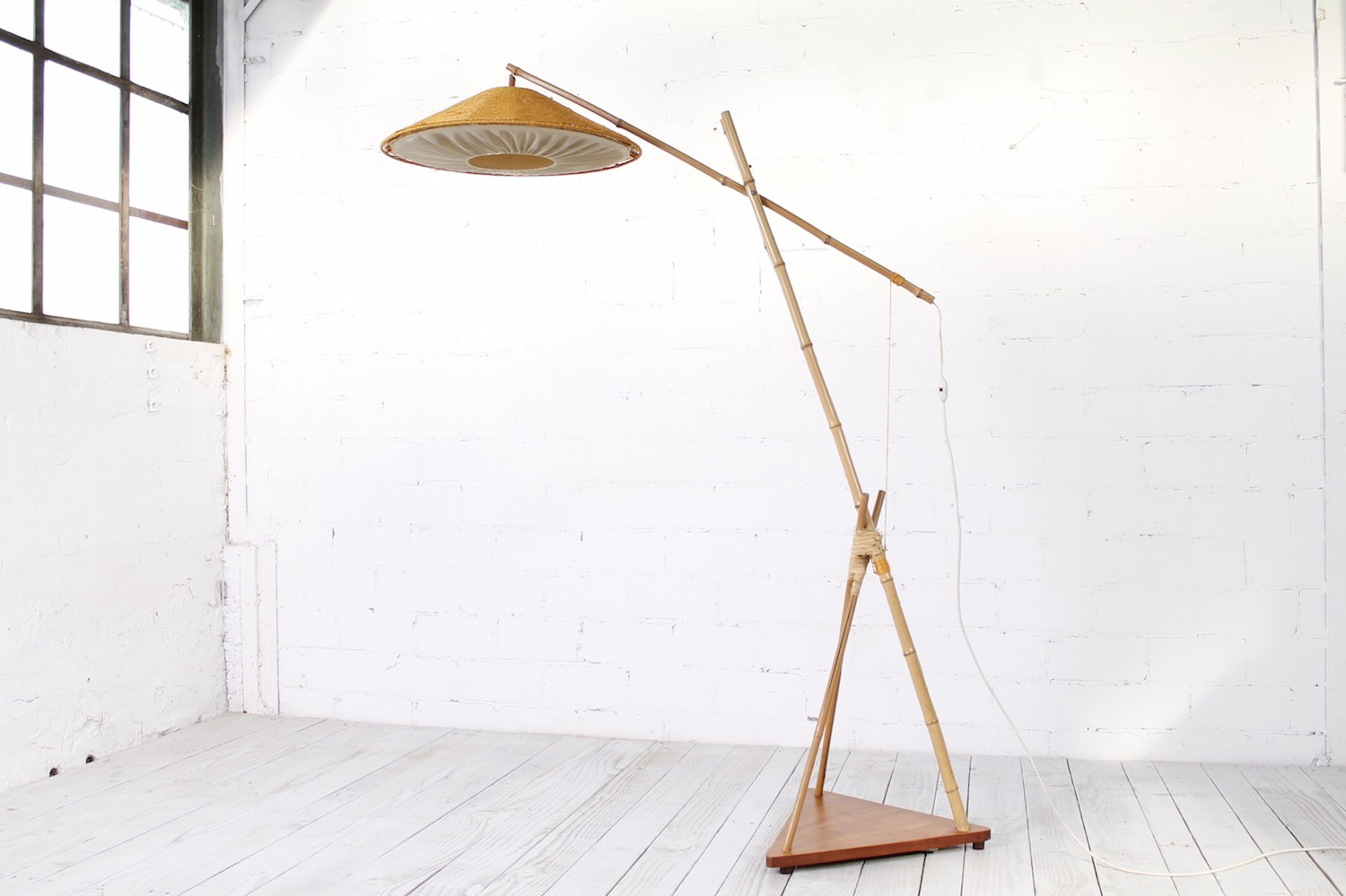 Vintage Bamboo Floor Lamp From Munich 1950s Design Market