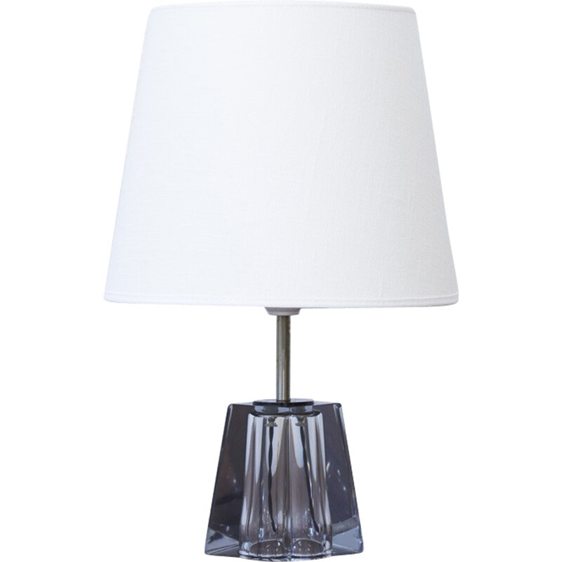 Glass pedestal table lamp by Carl Fagerlund for Orrefors - 1960s