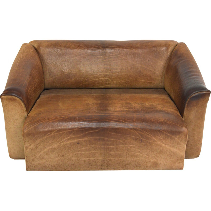 DS-47 2-seater sofa in brown - 1970s