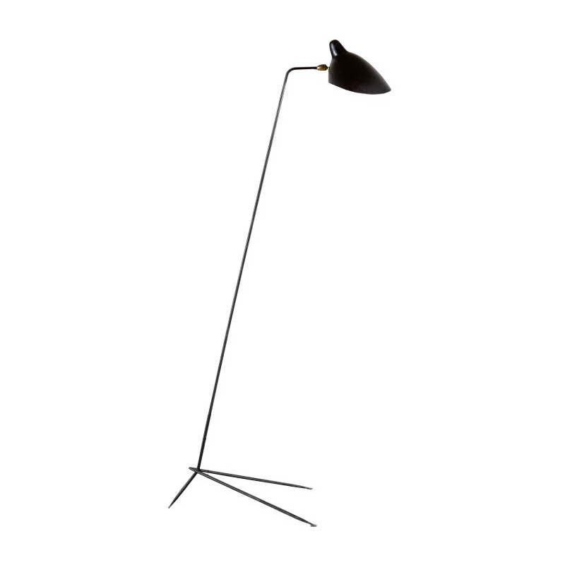 Floor lamp model single by Serge Mouille - 1950s