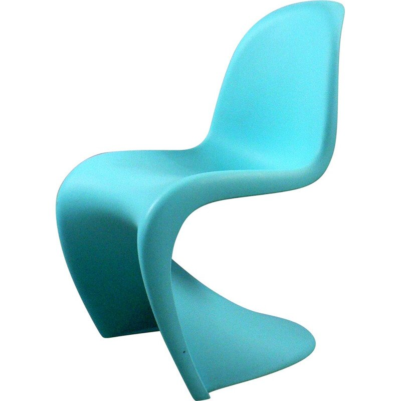 Blue chair in plastic by Verner Panton for Vitra - 2000s