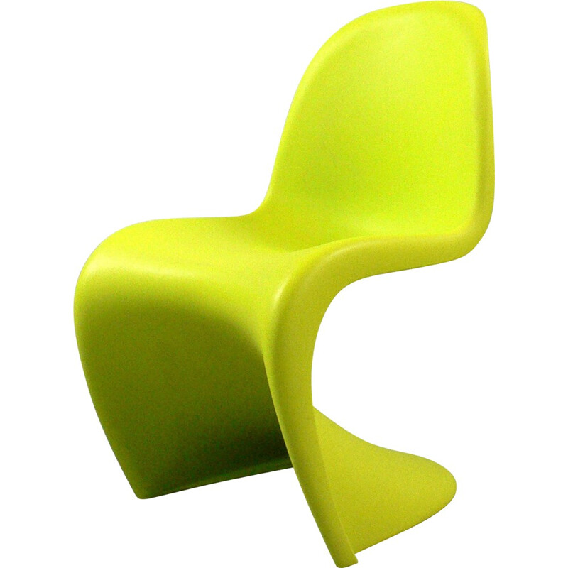 Green chair in plastics by Verner Panton produced by Vitra - 2000s