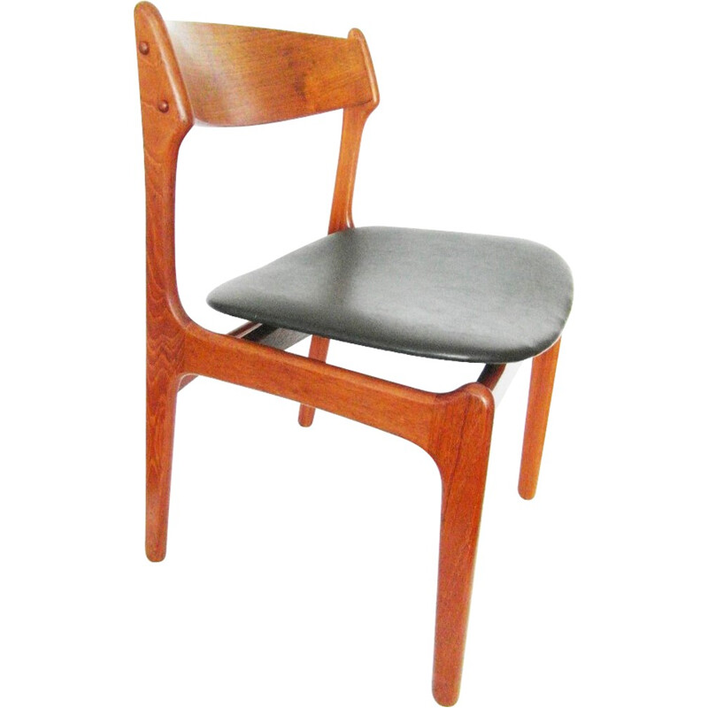 Set of 4  teak chairs by Erik BUCH - 1950s