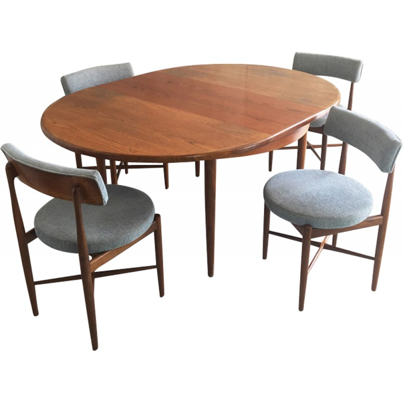 Miraculous Set Of A G Plan Expandable Dining Table And 4 Dining Chairs With Original Upholstery 1970S Cjindustries Chair Design For Home Cjindustriesco