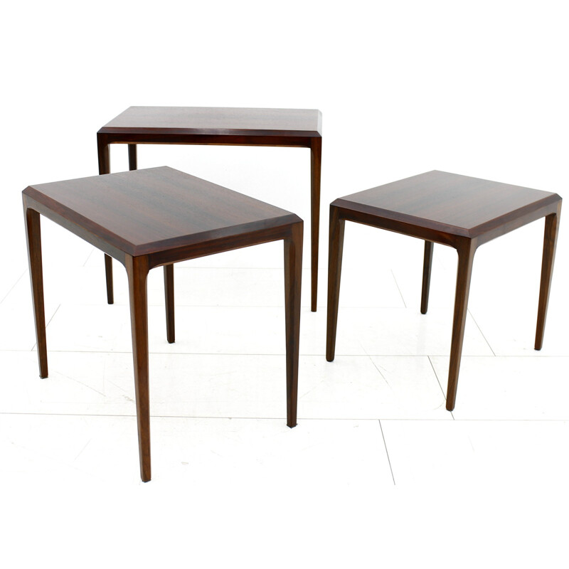 Danish Nesting Tables of Rosewood by Johannes Andersen - 1960s