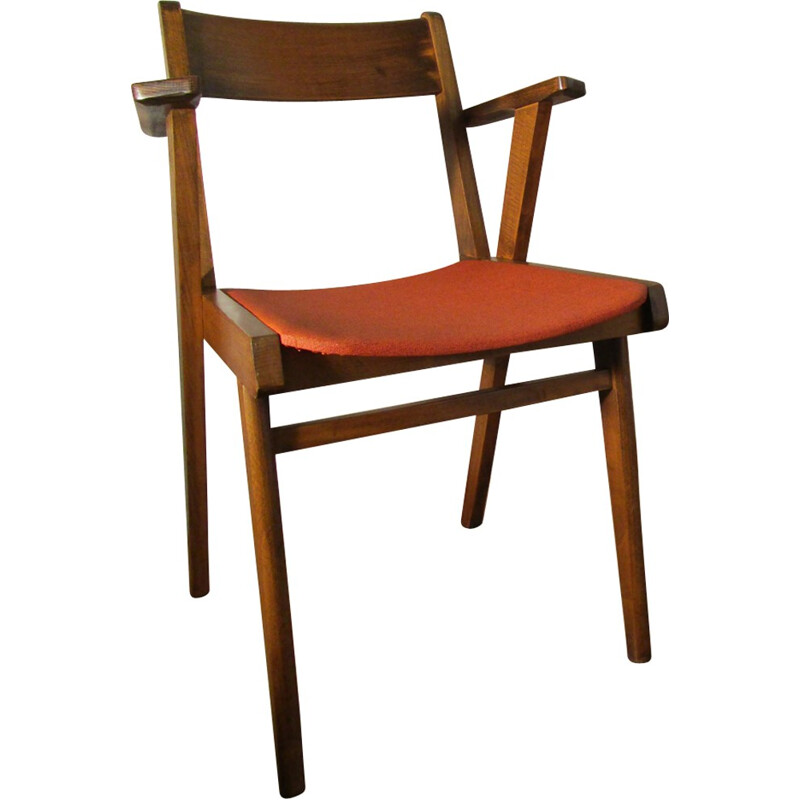 Pair of bridge chairs with slanted legs  - 1950s