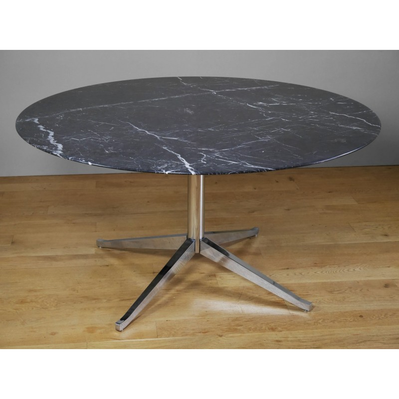 Marquina Marble Dining Table By Florence Knoll For 1990s Design Market