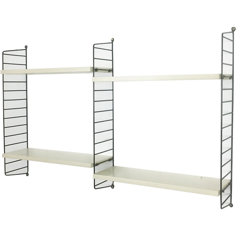 Swedish white wall unit system by Nisse Strinning for String - 1970s