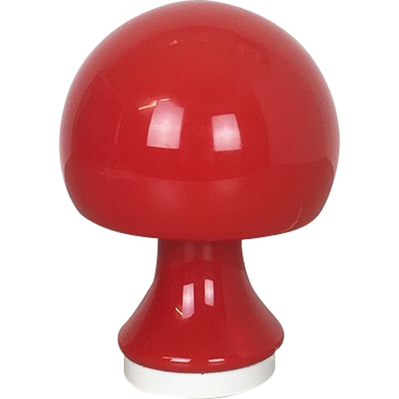 Red 'Mushroon' desk light by Peill & Putzler, Germany - 1960s