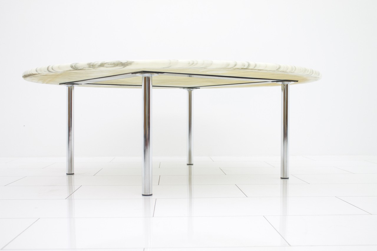 Tanner metal u0026 glass round coffee table matte ironbronze 100 chrome round coffee table shop new spec cota chrome cle geotapseo Images