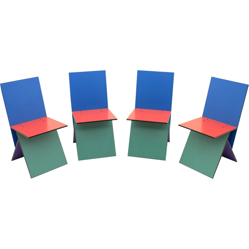 Set of 4 Vilbert Chairs by Verner Panton - 1990s