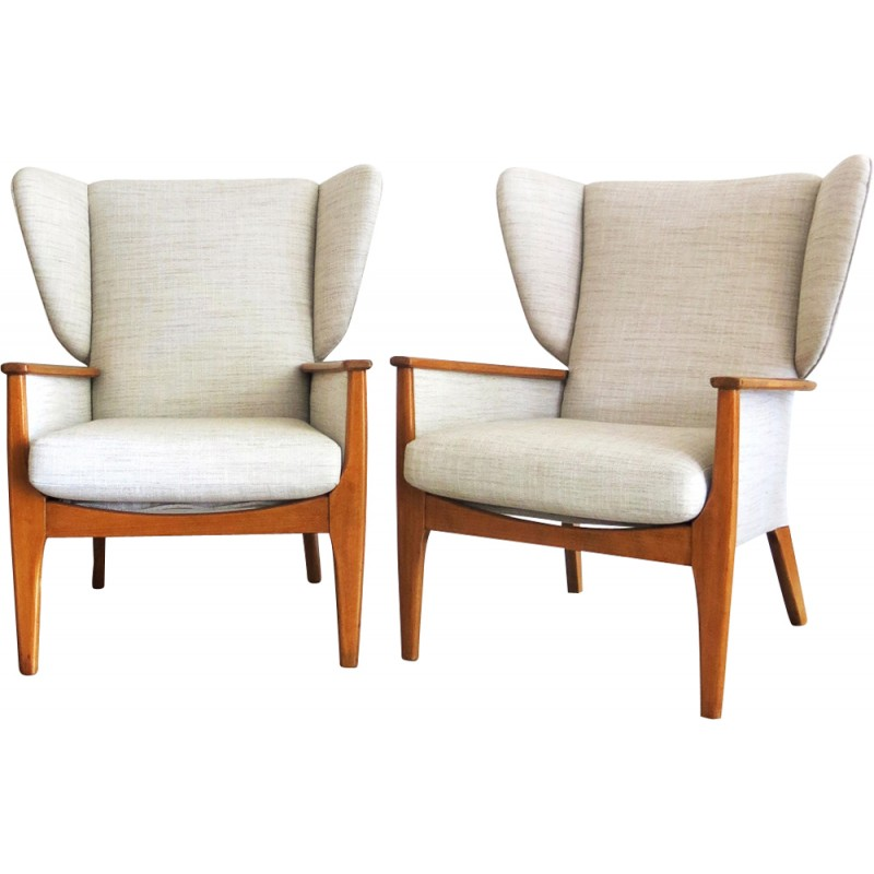 Pair Of Wingback Chair From Parker Knoll 1960s