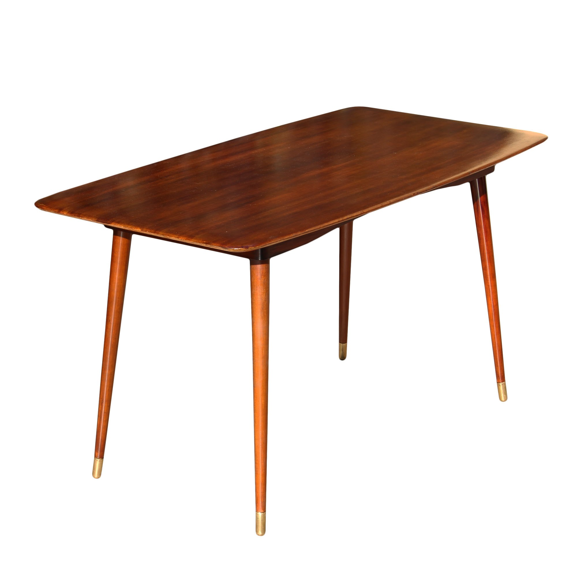 Wooden Coffee Table With Tapered Legs, Germany
