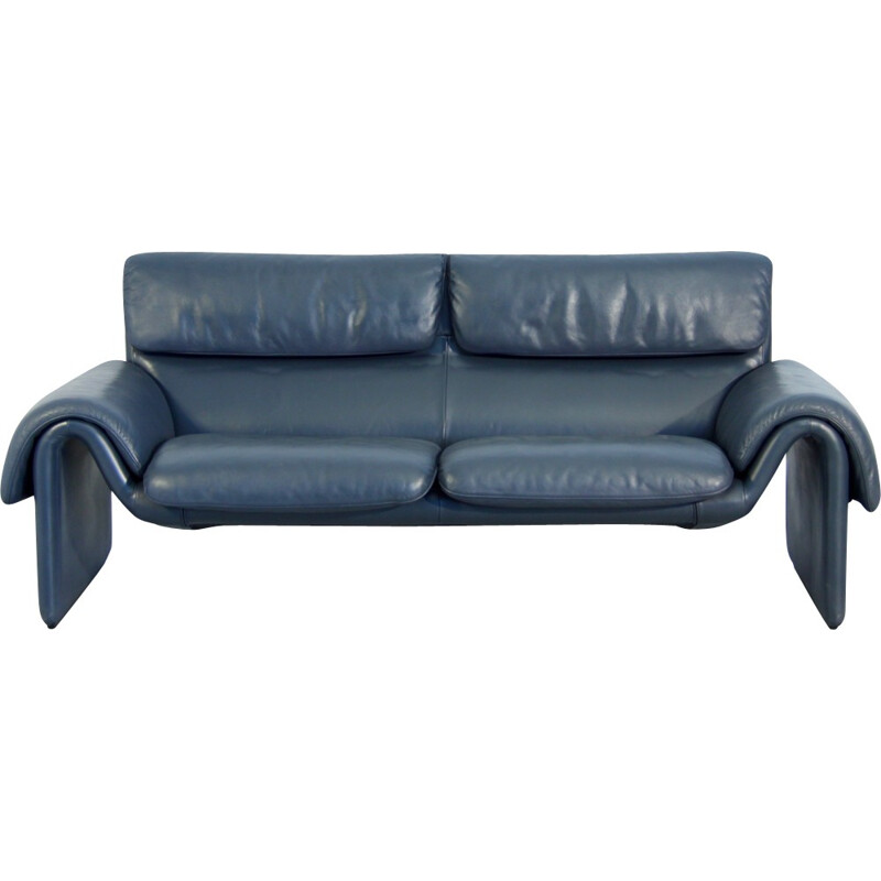 DS 2011 leather sofa from de Sede - 1980s