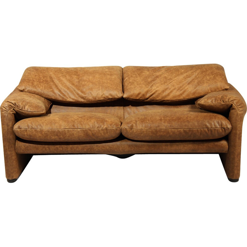 Vintage Maralunga Sofa by Vico Magistretti for Cassina - 1970s