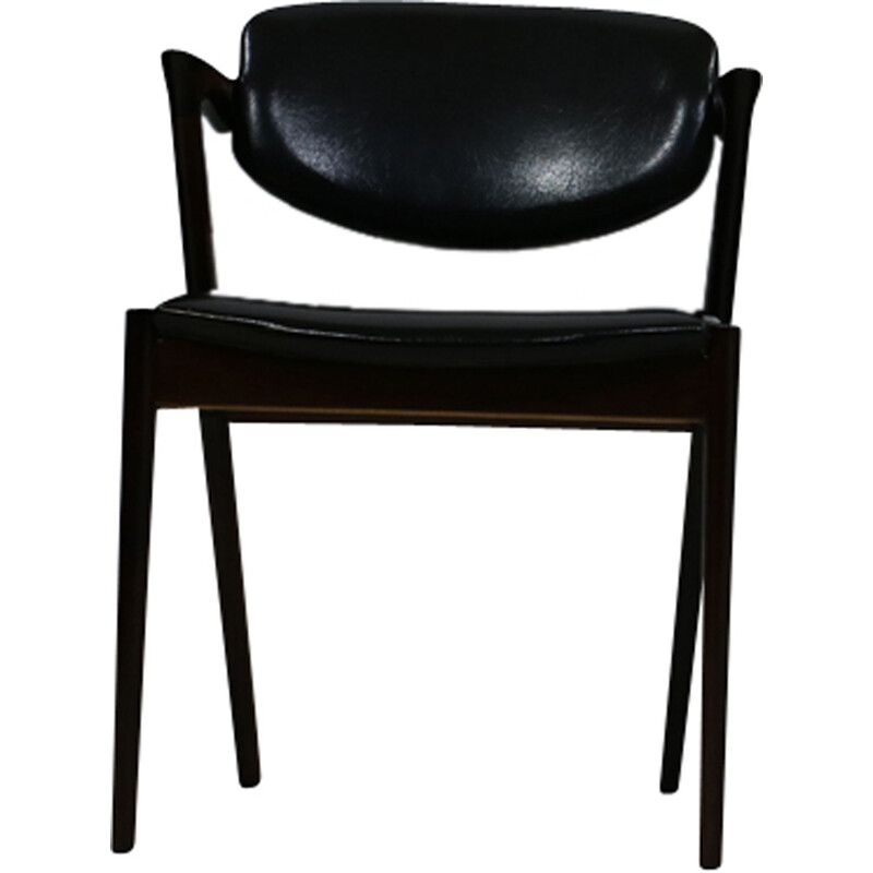 Set of 4 rosewood Chairs by Kai Kristiansen - 1950s