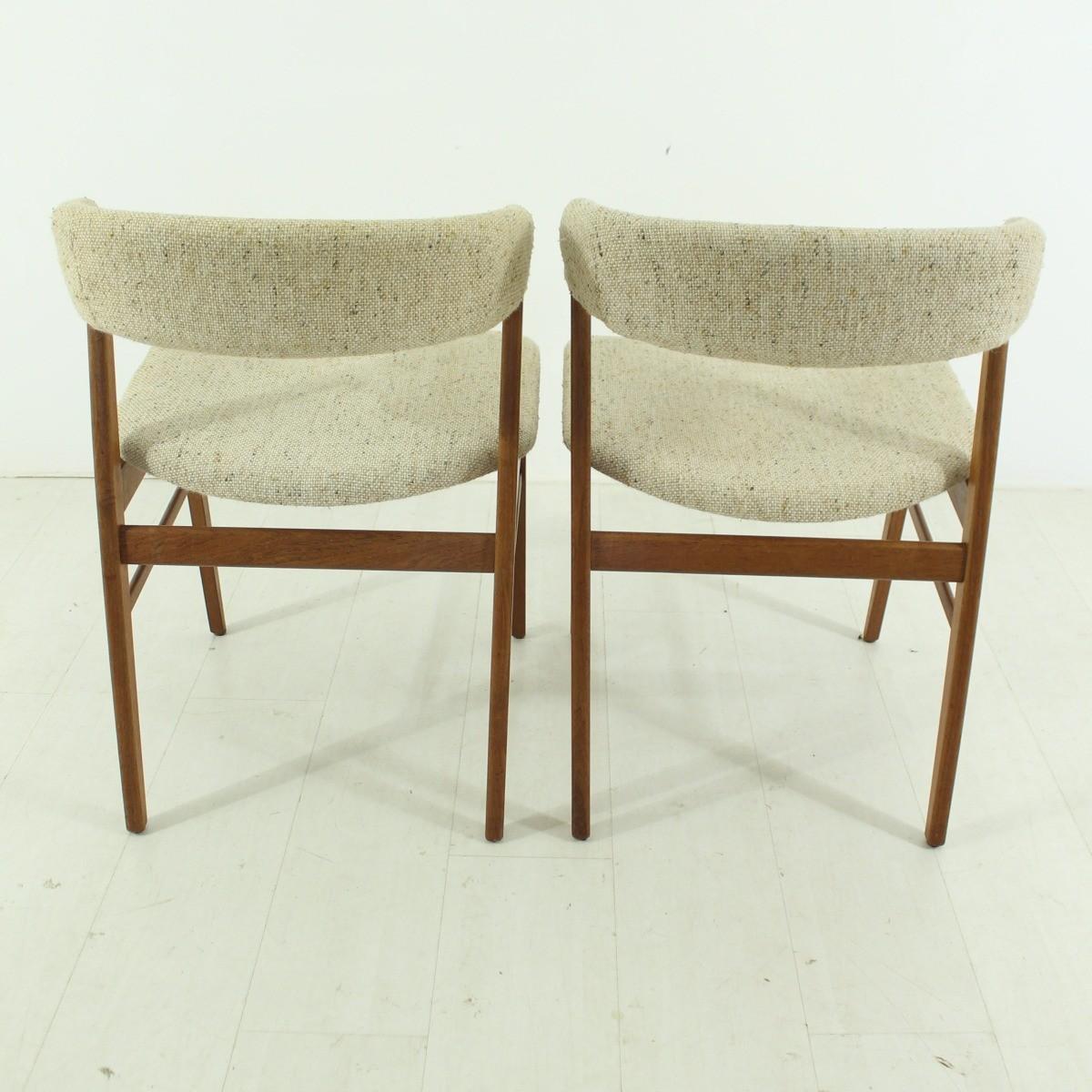 Set of 2 Danish teak chairs 1960s Design Market
