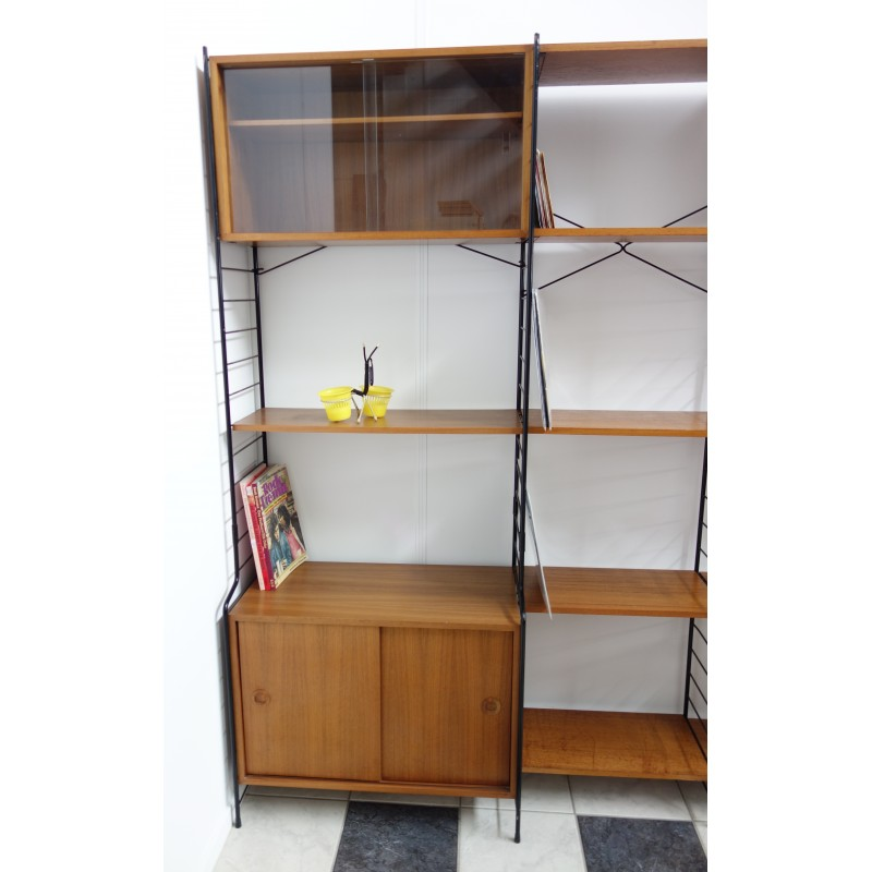Large WHB wall unit in wood and metal 1960s Design Market