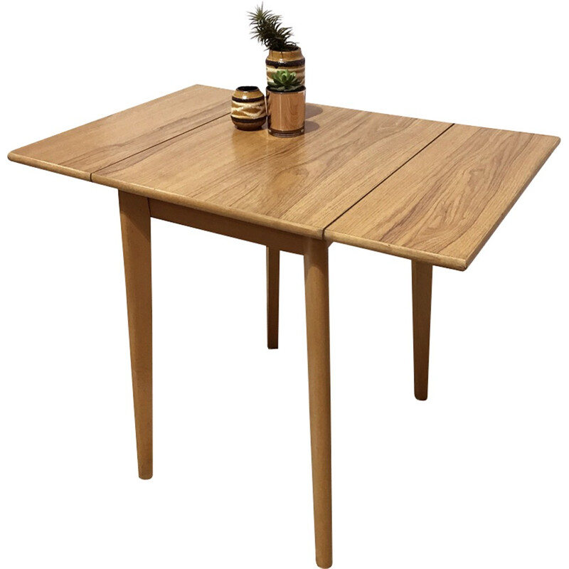 Small formica kitchen drop leaf table - 1950s