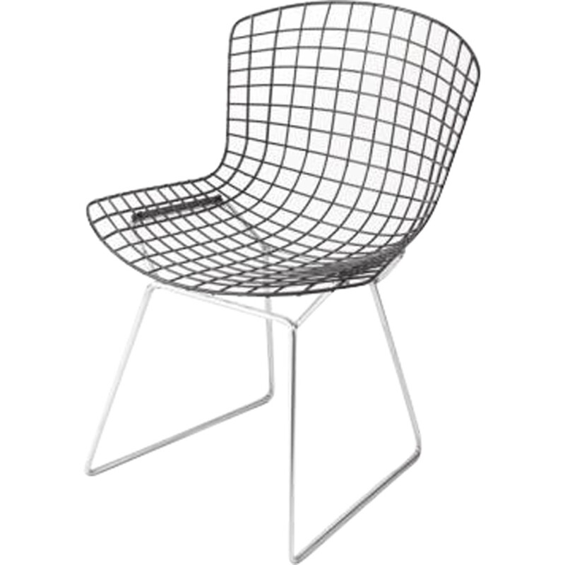 Pair of wire chairs by Harry Bertoia for Knoll International - 1970s