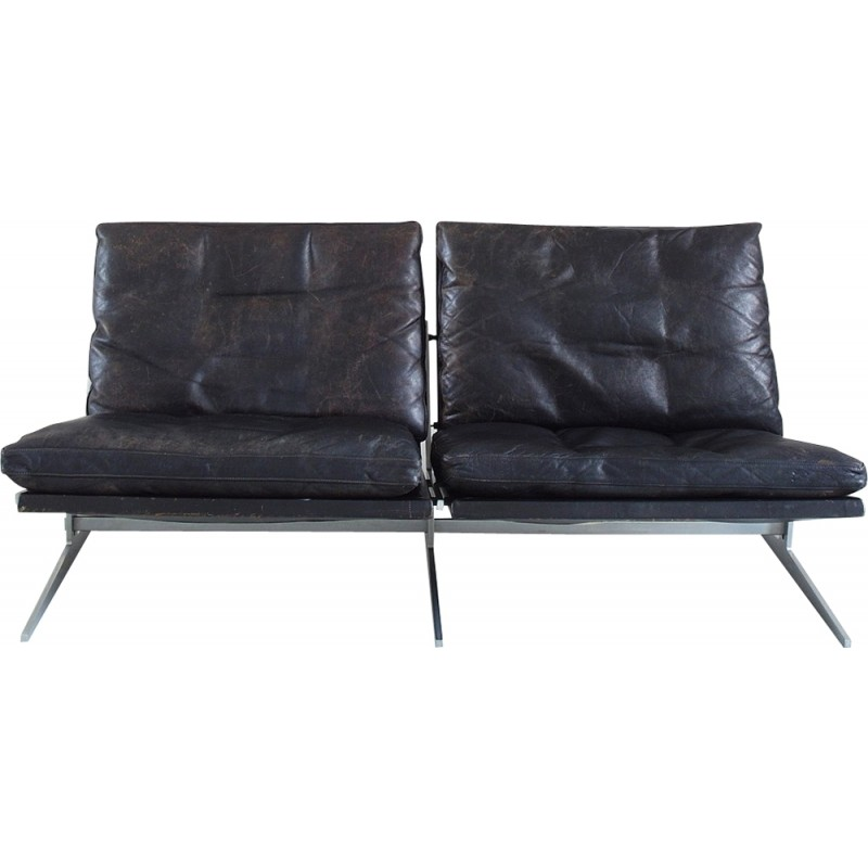 Fabricius And Kastholm Black Leather Two Seat Sofa For Bo Ex