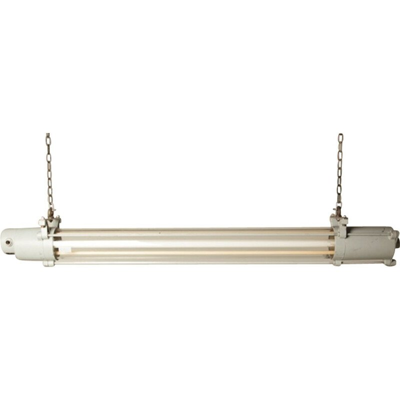 DDR industrial XL pendant lamp in glass tube