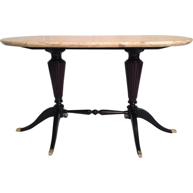 Coffee Table With Marble Top by Paolo Buffa for Fratelli Cassina - 1940s