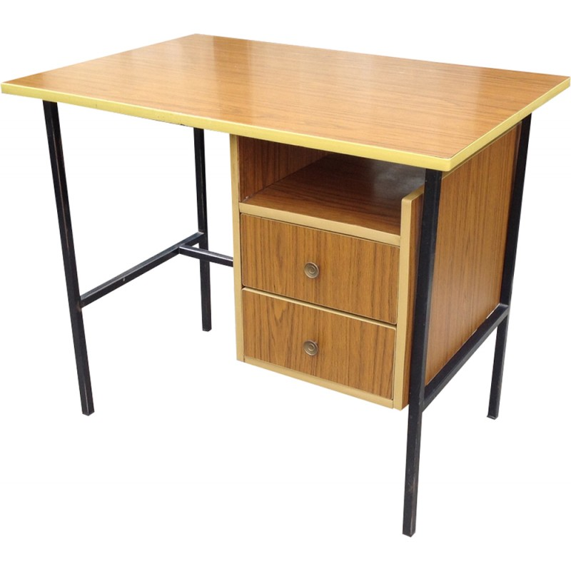 Vintage Office Desk In Formica 1950s