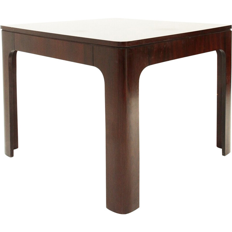 Italian rosewood square extendible dining table - 1960s