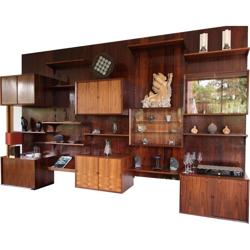 Rio rosewood wall storage system by Poul Cadovius - 1970s