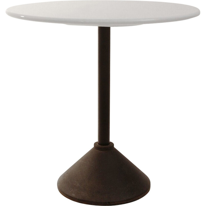 White coffee table in iron produced by Porada - 1980s