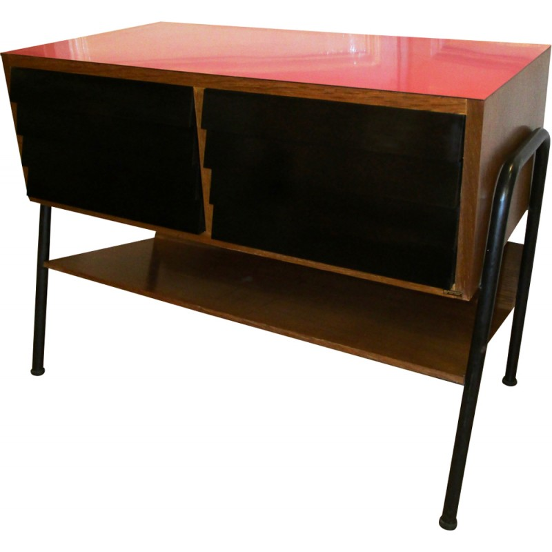 Hifi Formica And Wood Furniture By Manufrance   1960s